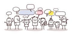 Children and social network Stock Illustration