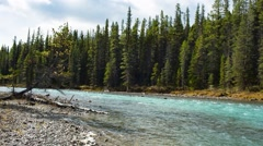 A mountain river in Canada Stock Footage