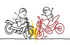 Motorcycle accident Stock Illustration