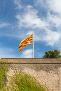 Stock Photo of Montjuic Castle in Barcelona