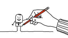 drawing hand - stock illustration
