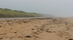 Landscape view of the Omaha Beach in France - stock footage
