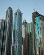 Stock Photo of Dubai Marina at sunset. United Arab Emirates