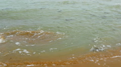 A not so clean water from the sea Stock Footage