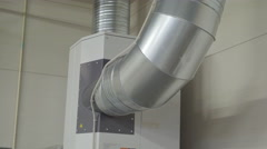 Closer look of the air ventilator in the room - stock footage
