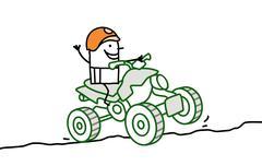 man on quad - stock illustration