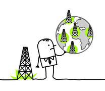 Businessman & shale gas sites Stock Illustration