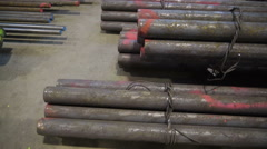 Set metal tubes tied on a metal knot Stock Footage