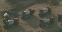 Cement trucks Stock Footage
