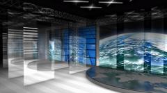 Virtual broadcasting set, internet, streaming. - stock footage