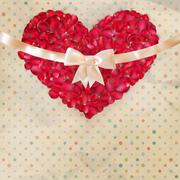 Valentines day card with a petals. EPS 10 - stock illustration