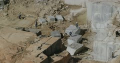 A marble quarry Stock Footage