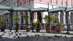 Background - empty small artizan plaza in Old San Juan Stock Footage