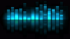 Sound Wave Graphics Equalizer Stock Footage