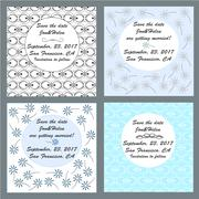 save the date card template - stock illustration