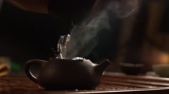 Teapot from Yixing clay Stock Footage