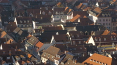 Beautiful buildings with traditional architecture seen from Heidelberg Castle Stock Footage