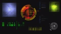 Hud radar system animated Stock Footage