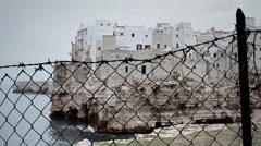 Fence medieval city Stock Footage