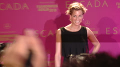 Tina Bordin at Escada Fashion Week 2009 Stock Footage