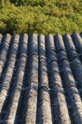 Constructed Roof Material Asbestos Stock Photos