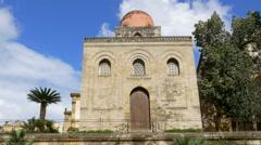 Chiesa di San Cataldo. Palermo, Sicily, Italy. Stock Footage