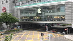 Apple store in Hong Kong Stock Footage