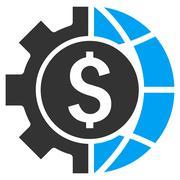 World Industry Finances Flat Vector Icon - stock illustration