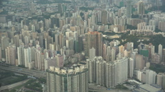 Residential apartment towers in Hong Kong, property prices Stock Footage