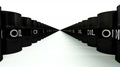 Animated road of infinite barrels of crude oil - constant speed - stock footage