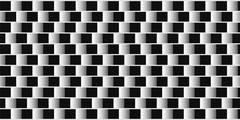 Optical illusion. Parallel lines made from black and white pillows. - stock illustration