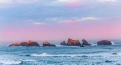 Sunrise at Bandon Beach Stock Photos