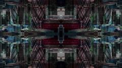 Timelapse london city skyline skyscrapers architecture abstract kaleidoscope Stock Footage
