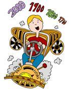 Time Machine Man - stock illustration