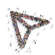 Stock Illustration of people  shape  arrow cursor