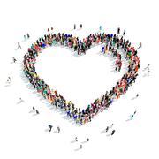 People  shape  heart Stock Illustration