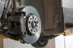 Automotive disc brakes. Kuvituskuvat