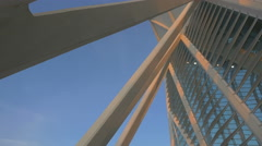 Low angle of the Prince Philip Science Museum in Valencia Stock Footage