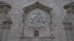 View of The Santos Juanes church's sculptures in Valencia Stock Footage