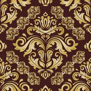 Seamless Vector Wallpaper in the Style of Baroque Piirros