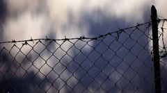 Stock Video Footage of Fence stars clouds timelapse