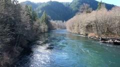 McKenzie River Oregon Stock Footage