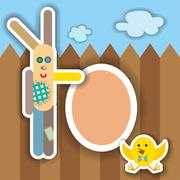 Easter scrapbook elements. Vector illustration Stock Illustration