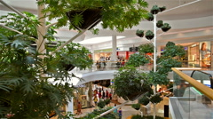 People Shop In Vienna Shopping City Luxury Mall - stock footage