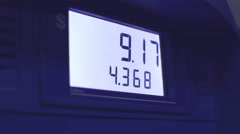 Detail of Gas Pump Stock Footage