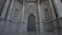 The front door of Valencia Cathedral in Valencia Stock Footage