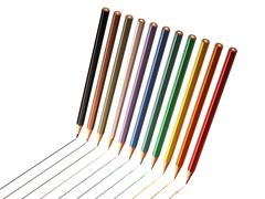 Colored pencils drawing line Stock Illustration