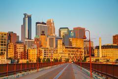Downtown Minneapolis, Minnesota in the morning Kuvituskuvat