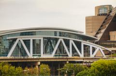 Philips Arena and CNN Center in Atlanta, GA Kuvituskuvat