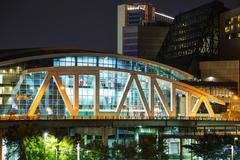 Philips Arena and CNN Center in Atlanta, GA Stock Photos